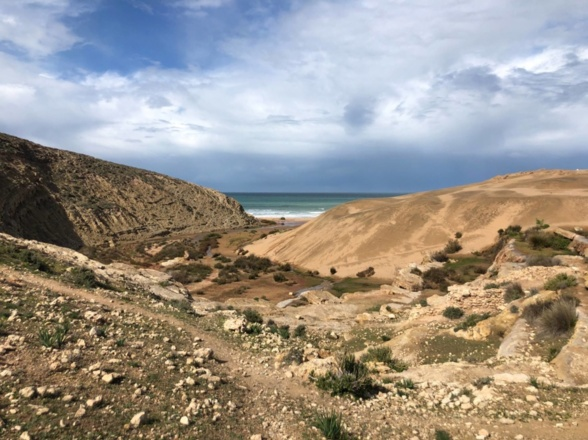 CASCADES et dunes de Sidi Mbark, thé chez la famille berbère
